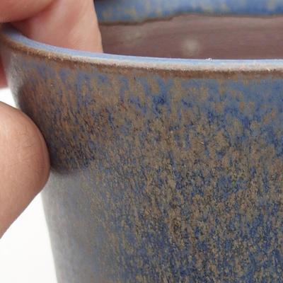 Ceramiczna miska bonsai 10 x 10 x 13,5 cm, kolor niebieski - 2