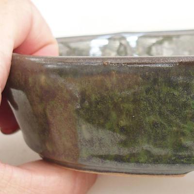 Ceramiczna miska bonsai 14,5 x 9 x 3,5 cm, kolor zielony - 2