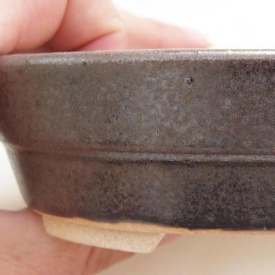 Ceramiczna miska bonsai 13 x 10 x 3,5 cm, kolor metalowy - 2