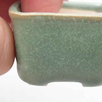 Mini miska bonsai 4 x 3,5 x 2 cm, kolor zielony - 2