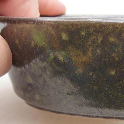 Ceramiczna miska bonsai 14 x 9,5 x 4 cm, kolor zielony - 2