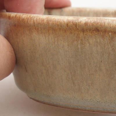 Ceramiczna miska bonsai 14 x 9,5 x 4 cm, kolor beżowy - 2