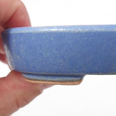 Ceramiczna miska bonsai 11 x 9 x 2,5 cm, kolor niebieski - 2