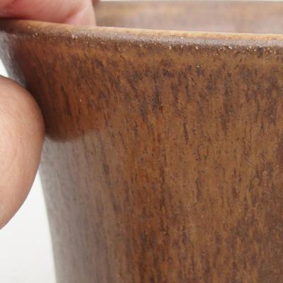 Ceramiczna miska bonsai 12,5 x 12,5 x 12 cm, kolor brązowy - 2