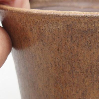 Ceramiczna miska bonsai 13 x 13 x 12,5 cm, kolor brązowy - 2