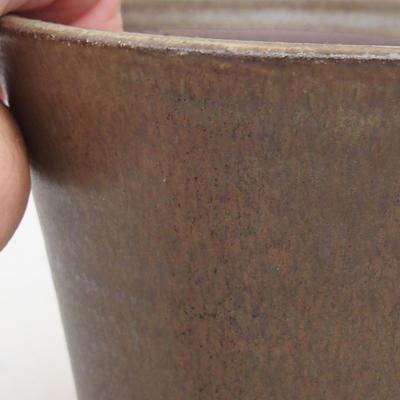 Ceramiczna miska bonsai 12,5 x 12,5 x 11 cm, kolor brązowy - 2