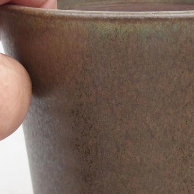 Ceramiczna miska bonsai 10,5 x 10,5 x 13 cm, kolor brązowy - 2