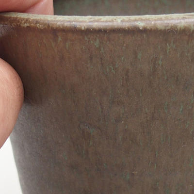 Ceramiczna miska bonsai 10,5 x 10,5 x 10 cm, kolor zielony - 2