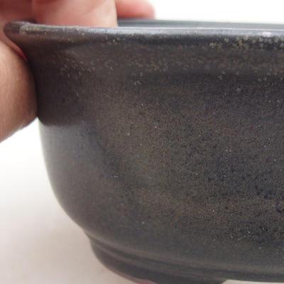 Ceramiczna miska bonsai 12 x 10 x 5 cm, kolor szary - 2