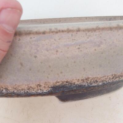 Miska Bonsai 22 x 17 x 6 cm, kolor szaro-beżowy - 2