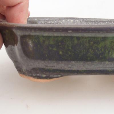Ceramiczna miska bonsai 15,5 x 12 x 4,5 cm, kolor zielony - 2