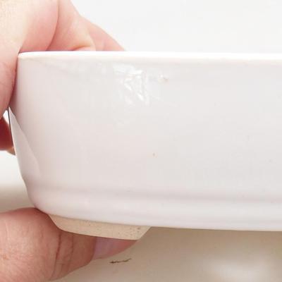 Ceramiczna miska bonsai 12,5 x 8,5 x 3,5 cm, kolor biały - 2