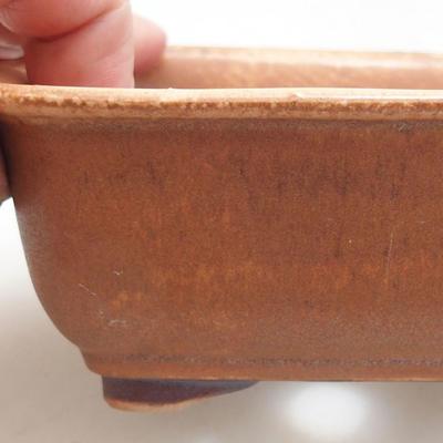 Ceramiczna miska bonsai 13 x 10 x 5,5 cm, kolor cegieł - 2
