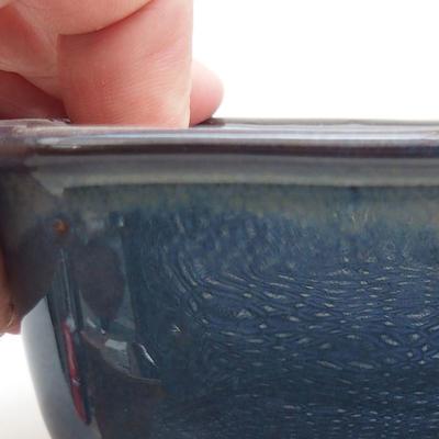 Ceramiczna miska bonsai 13 x 10 x 5,5 cm, kolor brązowo-niebieski - 2