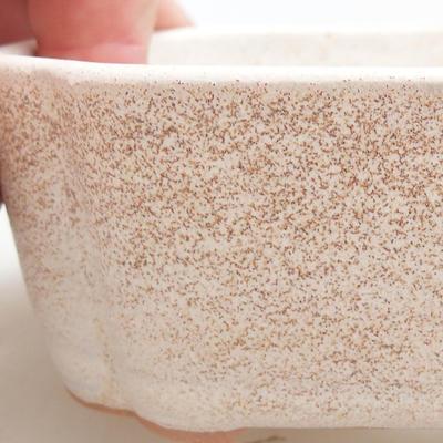 Ceramiczna miska bonsai 12 x 9,5 x 4 cm, kolor beżowy - 2