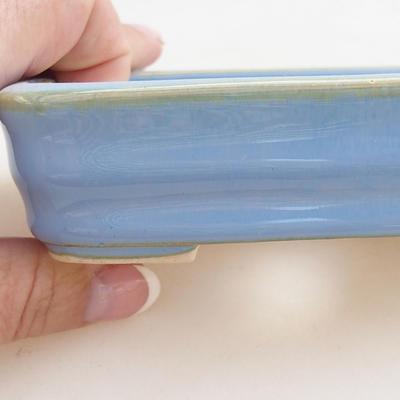 Ceramiczna miska bonsai 11 x 8 x 3 cm, kolor niebieski - 2