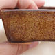 Ceramiczna miska bonsai 9,5 x 7 x 3 cm, kolor brązowy - 2/4