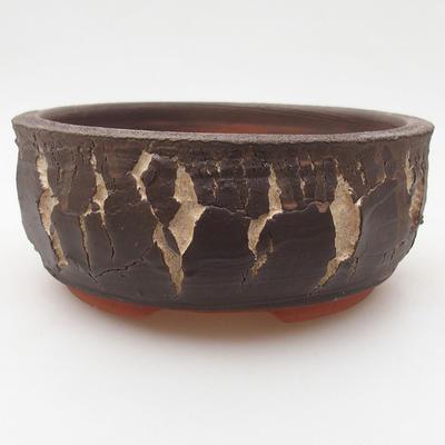 Ceramiczna miska bonsai 15 x 15 x 6 cm, kolor popękany - 2