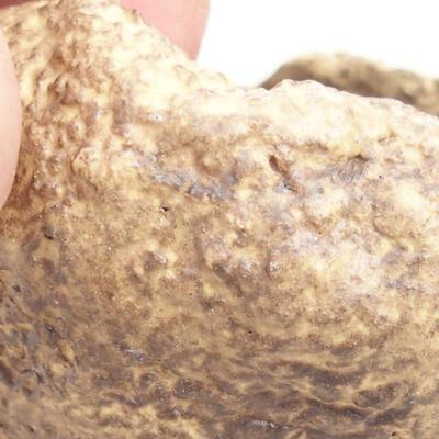 Ceramiczna skorupa 5 x 5 x 4,5 cm, kolor żółty - 2