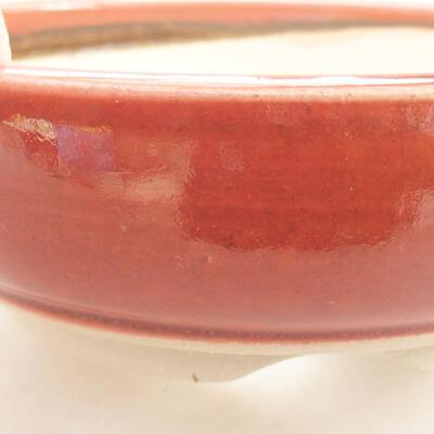 Ceramiczna miska bonsai 13 x 13 x 4,5 cm, kolor ceglasty - 2