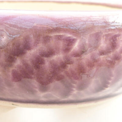 Ceramiczna miska bonsai 11 x 11 x 5 cm, kolor fioletowy - 2