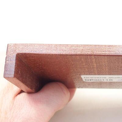 Drewniany stół pod bonsai brązowy 12 x 9 x 1,5 cm - 2