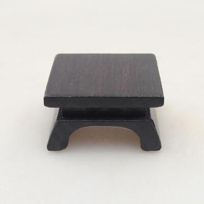 Drewniany stół pod bonsai brązowy 3 x 3 x 1,5 cm - 2