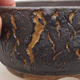 Ceramiczna miska bonsai 14 x 14 x 6,5 cm, kolor spękany - 2/4