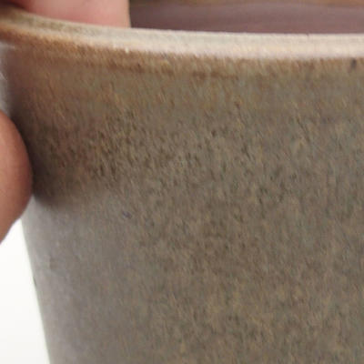 Ceramiczna miska bonsai 10,5 x 10,5 x 9 cm, kolor brązowo-zielony - 2