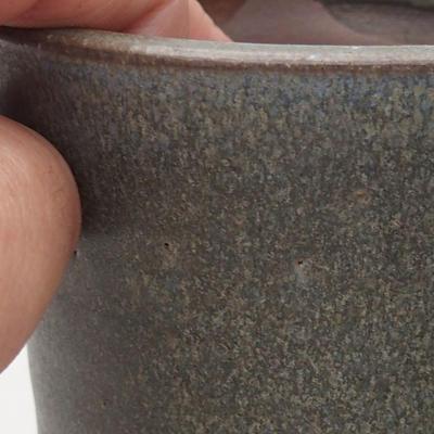 Ceramiczna miska bonsai 9 x 9 x 10,5 cm, kolor szary - 2