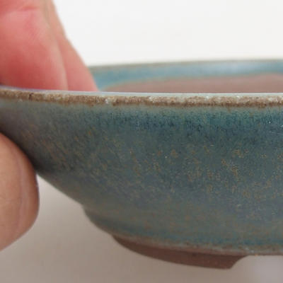 Ceramiczna miska bonsai 12 x 12 x 3,5 cm, kolor zielony - 2