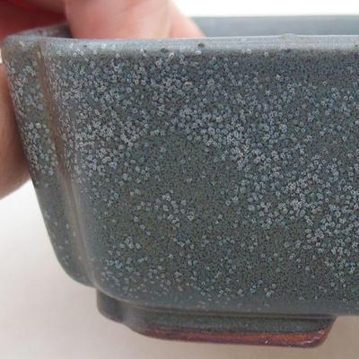 Ceramiczna miska bonsai 15 x 11,5 x 4 cm, kolor szary - 2