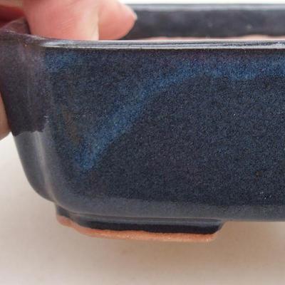 Ceramiczna miska bonsai 15 x 12 x 4 cm, kolor niebieski - 2