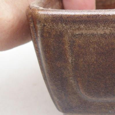 Ceramiczna miska bonsai 13 x 9 x 4,5 cm, kolor brązowy - 2