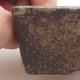 Ceramiczna miska bonsai 9 x 7 x 4 cm, kolor szary - 2/4