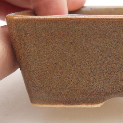 Ceramiczna miska bonsai 12 x 9 x 3,5 cm, kolor brązowy - 2