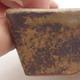 Ceramiczna miska bonsai 12 x 9 x 3,5 cm, kolor brązowy - 2/4