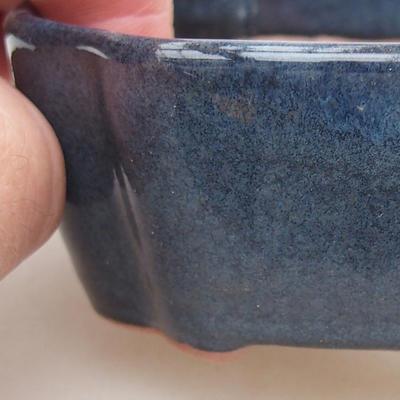Ceramiczna miska bonsai 10 x 7,5 x 3,5 cm, kolor niebieski - 2
