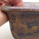 Ceramiczna miska bonsai 9 x 9 x 5,5 cm, kolor brązowy - 2/4