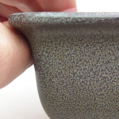 Ceramiczna miska bonsai 9 x 9 x 5,5 cm, kolor szary - 2