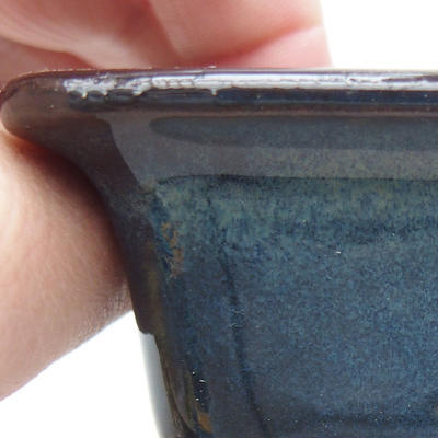 Ceramiczna miska bonsai 9 x 9 x 5,5 cm, kolor niebieski - 2