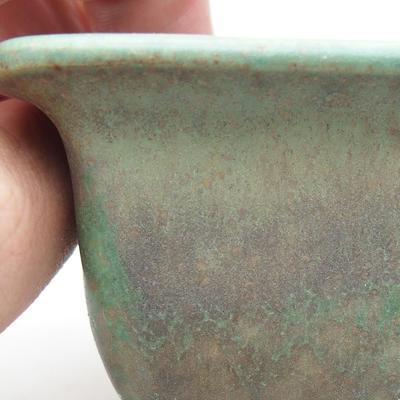 Ceramiczna miska bonsai 9 x 9 x 5,5 cm, kolor zielony - 2