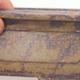 Ceramiczna miska bonsai 17,5 x 12 x 5,5 cm, kolor brązowo-zielony - II gatunek - 2/4