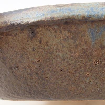 Ceramiczna miska bonsai 15 x 15 x 4 cm, kolor brązowy - II gatunek - 2