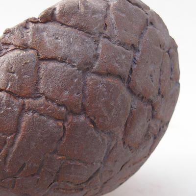 Ceramiczna miska bonsai 14 x 11 x 9 cm, kolor szary - II gatunek - 2