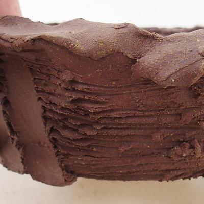 Ceramiczna miska bonsai 13 x 13 x 4,5 cm, kolor szary - II gatunek - 2
