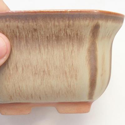 Miska Bonsai 11 x 11 x 6,5 cm, kolor brązowo-beżowy - 2