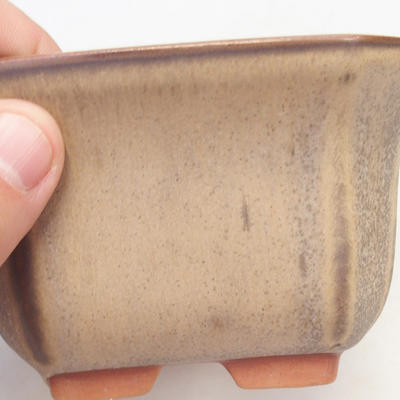 Miska Bonsai 12 x 12 x 7 cm, kolor brązowo-beżowy - 2
