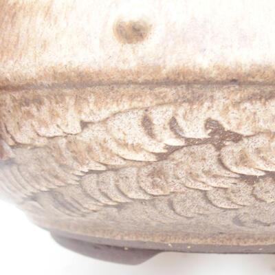 Ceramiczna miska bonsai 18,5 x 18,5 x 7 cm, kolor brązowy - 2