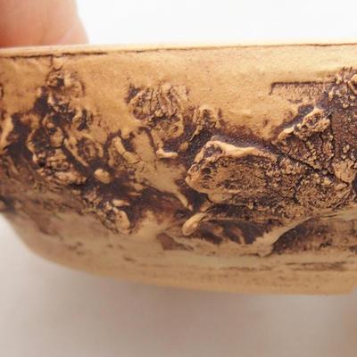 Ceramiczna miska bonsai 15 x 15 x 3 cm, kolor spękany - 2